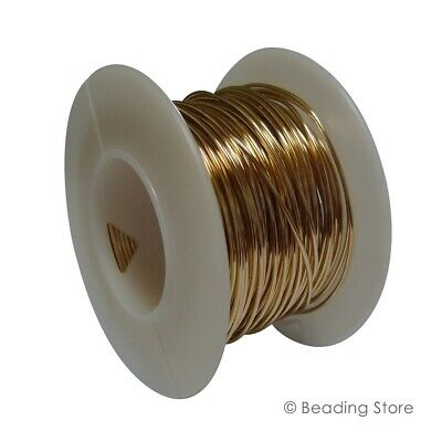 14ct Yellow Gold Filled Round Beading Wire Various Gauge Length Hardness 14/20