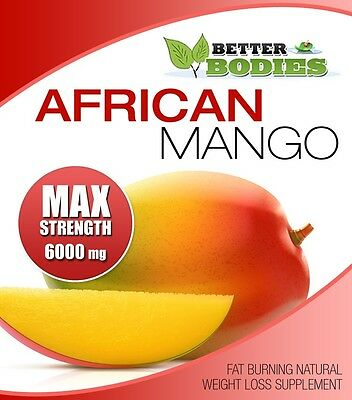 AFRICAN MANGO MAX 6000mg SUPER HIGH STRENGTH WEIGHT LOSS DIET 60 SLIMMING PILLS