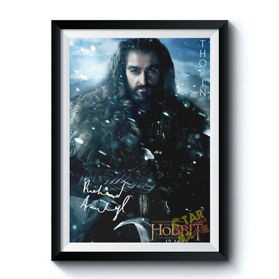 Thorin Richard Armitage Signed Poster THE HOBBIT Autographed A4 Reprint 200004