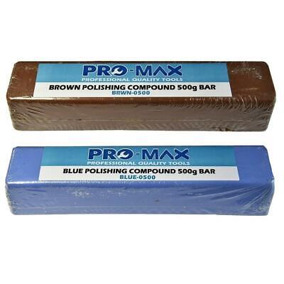Pro-Max Aluminium Alloy Brass Metal Polishing Compound 500g Bars 2pc Kit