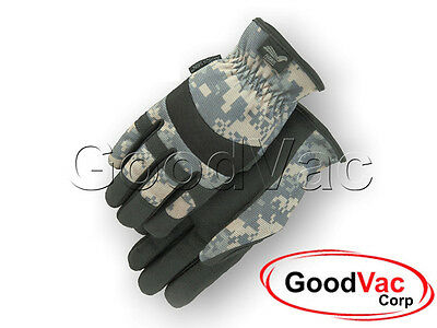 Majestic 2136C1 Mechanic Synthetic Leather Camouflage Camo Work Gloves - LARGE