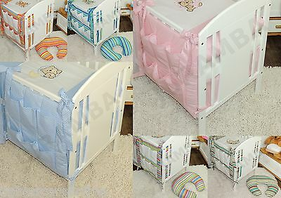 Lovely BABY Nursery COT TIDY /ORGANIZER to fit cot or cotbed