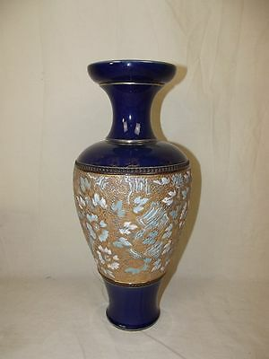 Royal Doulton Slaters Patent Large Vase In Gold & Blue 1897-1902
