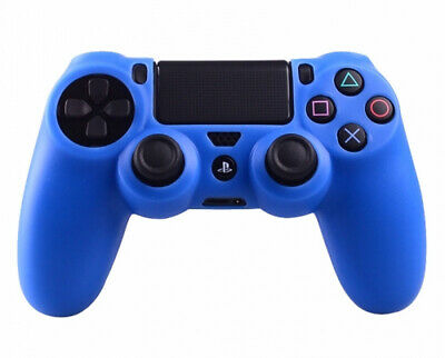 Blue Silicone Rubber Soft Protective Skin Grip Cover for PS4 Controller