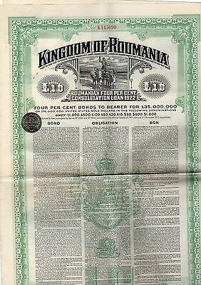 Kingdom of Roumania bond