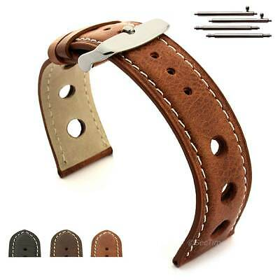 Men's Genuine Leather Watch Strap Band TWISTER Rally Racing 18mm 20mm 22mm 24 mm