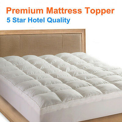 1000GSM Luxury Pillowtop Mattress Topper/Protector-5 Star Hotel Quality-ALL Size