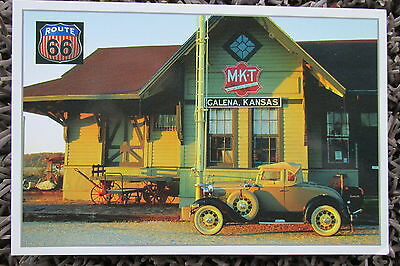 Museum Galena KS & 1931 Ford Model A 1994 Route 66 Post Card, unused & quik s&h