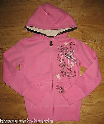 Disney Tinker Bell Hoody Girls Size 5 Pink NEW