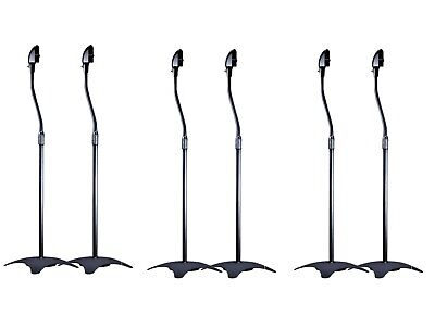 6X UNIVERSAL SURROUND SOUND SATELITE SPEAKER STANDS  HOME THEATER AUDIO 3 Pairs