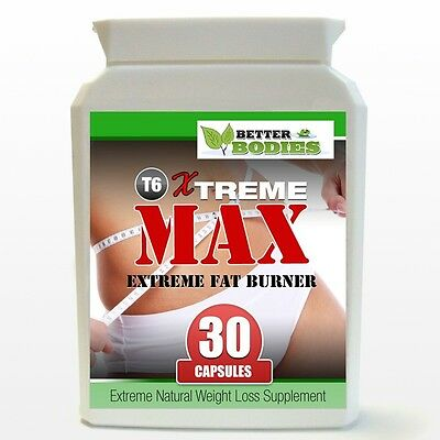 T6 Xtreme MAX Diet Pills STRONG Weight Loss Capsules Fat Burners Slimming 30 Cap