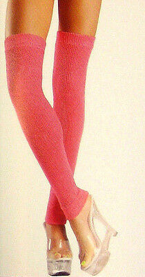 "Be Wicked! 711 Acrylic Leg Warmers Petite 14-1/2"" Long Neon Pink"