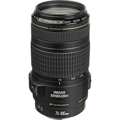 Canon Zoom Telephoto EF 70-300mm f/4-5.6 IS USM Lens 0345B002 NEW