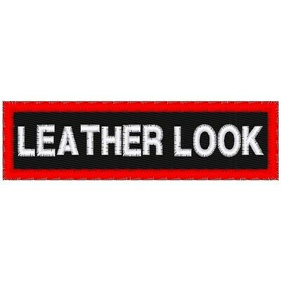 """Custom Embroidered """"leather Look""""  Name Patch"""