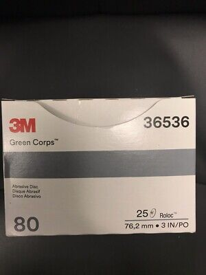 "3M Green Corps Roloc Grinding Discs, 3"" 50Grit: 01406"