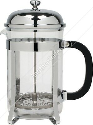 Traditional Cafetiere 12 Cup - Glass/Chrome