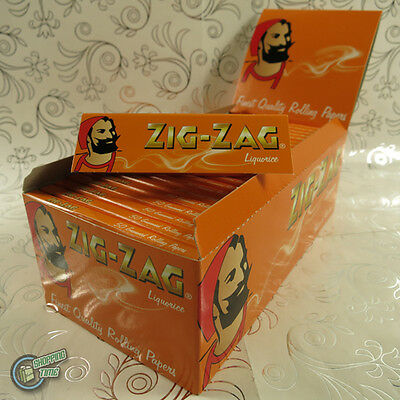50 packets box ZIGZAG ZIG ZAG Liquorice Cigarette Tobacco Rolling Paper Papers
