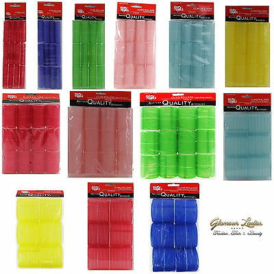 24x Professional Cling Hair Rollers Various Sizes 13mm-76mm Small - Super Jumbo