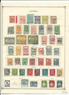 Estonia 1918 to 1940 Collection on Scott International Pages. SCV $187