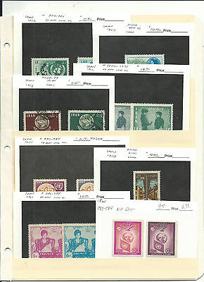 Middle East Collection on Stock Pages, 2 Pages, SCV $178 (3)