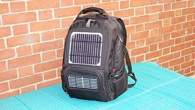 Solar Bookbag/ Camping Gear with battery