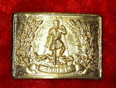 Replica Civil War Reenactors Brass Virginia Belt Buckle