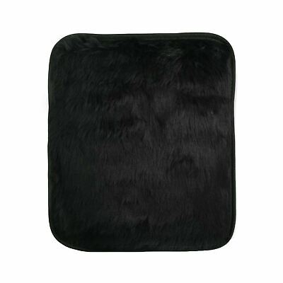 Micro Hotties Black Fur Microwave Hot Water Bottle Heat Pad Hand Body Warmer