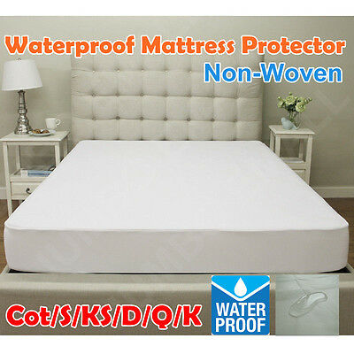 New Fully Fitted Waterproof & Anti-Allergy Mattress Protector-ALL AUS SIZE