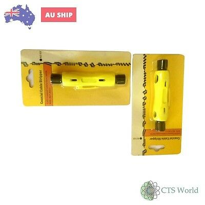 Tandem Nbn,Isgm,Telstra,Hfc,ExBsa,Loop A Line Coaxial Cable Stripper Not Pit Key