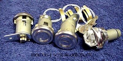 New Door Trunk & Ignition Locks With Keys Chevrolet Chevy 55 56 57