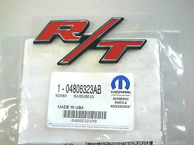RED MOPAR R/T Emblem Dodge Challenger Charger Red Jeep Chrysler OEM 4806323-AB