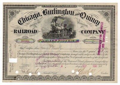 1896 Chicago, Burlington & Quincy Railroad Company - General Henry W. Wessells
