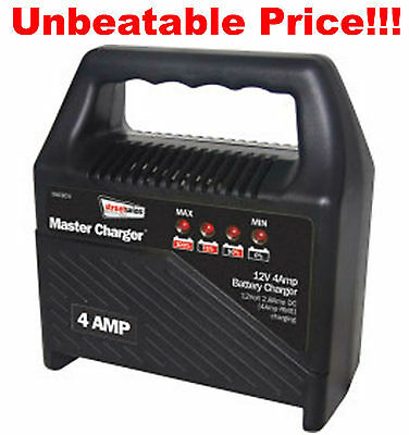 12V 4 Amp Portable Automatic Car Motorcycle Boat Lead Acid Battery charger WCBC4