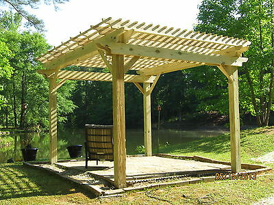 Pergola 14x14 Pressure Treated Pine - 2 yr warranty, accepting credit cards - PERGOLA 14X14 PRESSURE Treated Pine - 2 Yr Warranty, Accepting