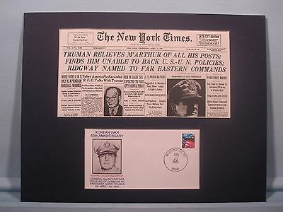 Truman relieves General MacArthur from command in Korea & Commemorative Cover