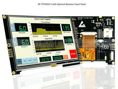 """5"""" inch TFT LCD Display Module 800x480 w/SSD1963,Resistive Touch Panel,Tutorial"""