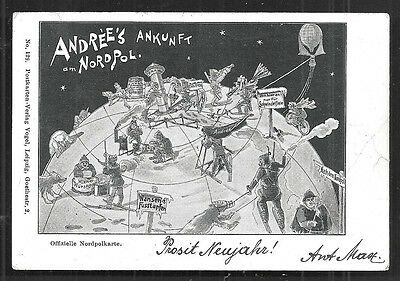 1897 North Pole Expedition  Andrée Balloon Explorer stamp
