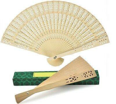 1 PCS NEW IN BOX Chinese Japanese Bamboo folding Fan HAND FAN  U.S. Seller