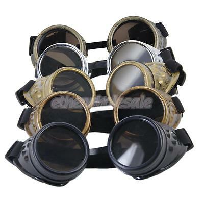 Cosplay Lunettes Steampunk Goggle Vintage Rustique Punk Glasses