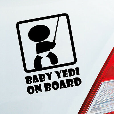 Auto Aufkleber BABY YEDI ON BOARD Fun Lustig für Star Warsfans Sticker 198