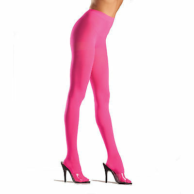 Be Wicked! 620 Semi Opaque Lycra Tights Pantyhose One Size Regular Neon Pink