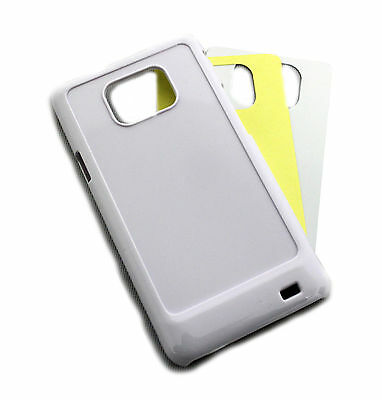 10 Hard Blank S2 Samsung Galaxy I9100 Case / Cover White Heat Press Sublimation