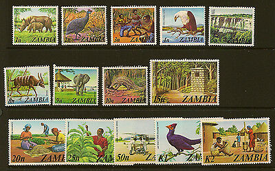 ZAMBIA : 1975 definitives SG226-39 unmounted mint