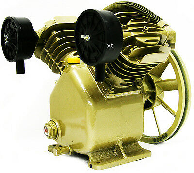 3HP Twin Cylinder Air Compressor Head Pump 140PSI V-Type Air Tools Home Business
