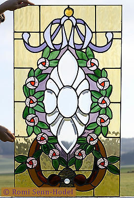 Bleiverglasung / Fenster / Stained Glass / Jugendstil / Art Nouveau / 1900