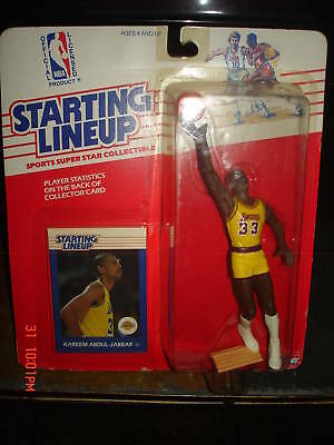 Kareem Abdul-Jabbar RC 1988 Kenner STARTING LINE-UP SLU Rookie-LA Lakers HOF-NEW