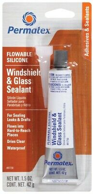 Permatex 81730 Flowable Silicone Windshield & Glass Sealer 1.5 oz Tube