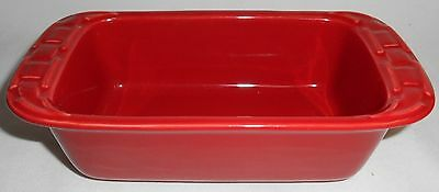Longaberger WOVEN TRADITIONS Solid Red MINI LOAF PAN