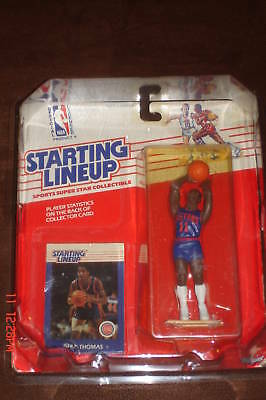 Isiah Thomas RC 1988 Staring Line-Up Kenner SLU Rookie Figure-Detroit Pistons