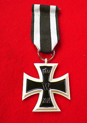 WW1 WWI Imperial German EK2 IRON CROSS 1914 1813 w ribbon
